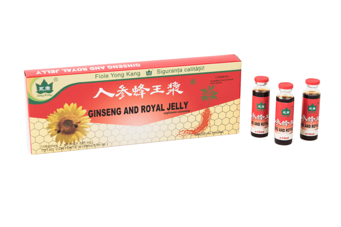 ginseng royal jelly fiole